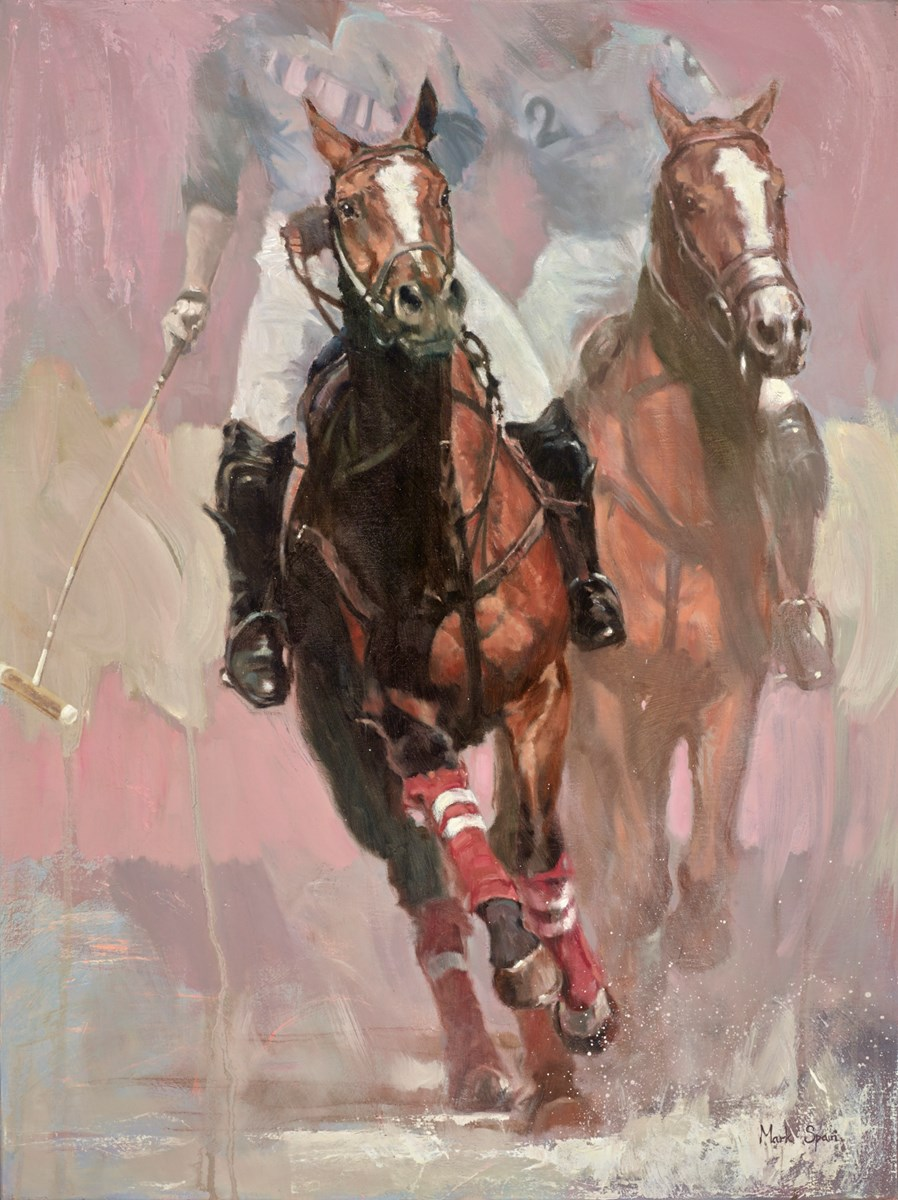 Two in Chase by mark spain -  sized 24x32 inches. Available from Whitewall Galleries